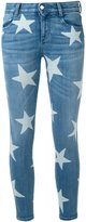 Stella McCartney Skinny Boyfriend star print jeans - women - Cotton/Elastodiene - 27