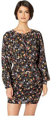 ASTR the Label Dawn Dress (Black Multi Floral) Women's Dress