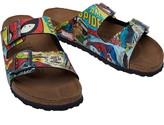 Birkenstock Arizona Birko-Flor Narrow Fit Sandals Spiderman Comic Pattern Red