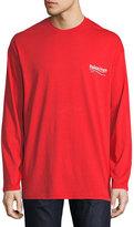 Balenciaga Long-Sleeve Campaign Logo T-Shirt