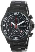 Akribos XXIV Men's AK663BK Grandiose Quartz Chronograph Black Stainless Steel Bracelet Watch