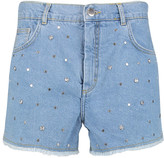 Maje Embellished denim shorts