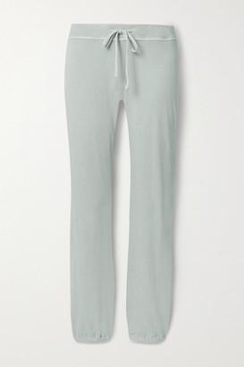 James Perse Genie Supima Cotton-terry Track Pants - Light gray