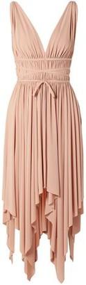 Norma Kamali Goddess Ruched Stretch-jersey Dress