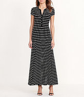 Lauren Ralph Lauren Short Sleeve Printed Jersey Henley Dress