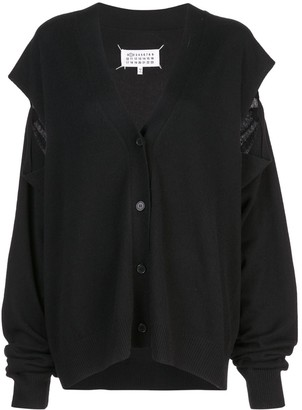 Maison Margiela Cut-Out Knitted Cardigan
