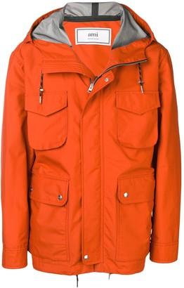 AMI Paris Patch Bonded Parka Jacket