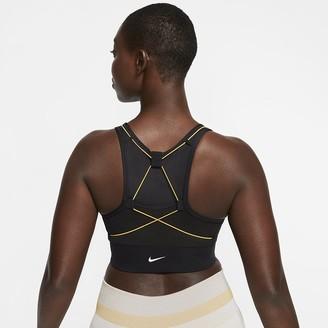 Nike Women's Medium-Support Pocket Sports Bra Swoosh Icon Clash