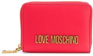 Love Moschino Logo Plaque Wallet