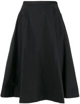 No.21 high-waisted flared skirt