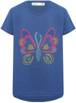 M&Co Gem butterfly dipped hem t-shirt
