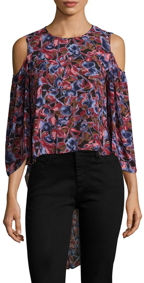 Thumbnail for your product : BCBGMAXAZRIA Skipper Cold-Shoulder Blouse