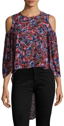 BCBGMAXAZRIA Skipper Cold-Shoulder Blouse
