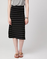 Le Château Stripe Jersey A-Line Skirt