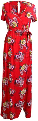 Velvet Torch Floral Faux Wrap Maxi Dress