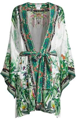 Camilla Daintree Darling Tropical-Print Kimono
