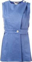 Sportmax buttoned wrap front top - women - Linen/Flax - 40