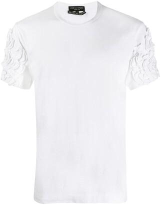 Comme des Garcons Pre Owned ruffle appliques T-shirt