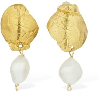Alighieri Shadow And Pearl Drop Earrings