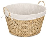 Household Essentials Banana Leaf Lined Laundry Basket, Natural