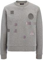 Joseph Jersey Sweatshirt + Badges in Grey Chine