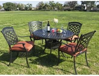 Tropez Fleur De Lis Living Simoneau 5 Piece Dining Set with Cushions Fleur De Lis Living