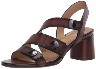 Naturalizer Womens Alicia Lodge Brown Leather Heeled Sandals 9 M