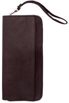 Piel Leather Zippered Passport/Ticket Holder 9102