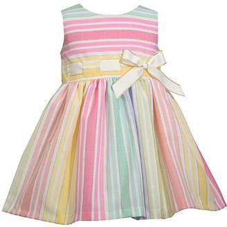 Bonnie Jean Baby Girls Sleeveless Striped A-Line Dress