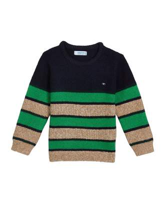 Mayoral Boy's Colorblock Stripe Knit Sweater, Size 4-8