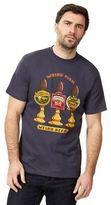Weird Fish Big And Tall Navy 'weird Beers' Print T-shirt