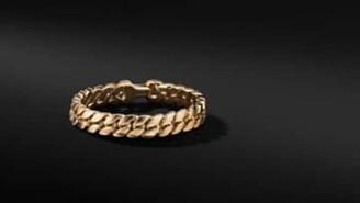 David Yurman Curb Chain Bracelet In 18K Yellow Gold