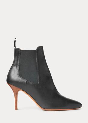 Ralph Lauren Vachetta Calfskin Kitten-Heel Boot