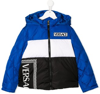 Versace Padded Colour Blocked Jacket