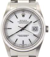 Rolex 16200 Stainless Steel Datejust Oyster w/White Dial & Domed Bezel Watch