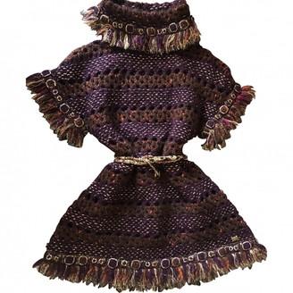 Chanel Burgundy Wool Dresses