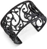 INC International Concepts Black-Tone Jet Pavé Cuff Bracelet, Created for Macy's