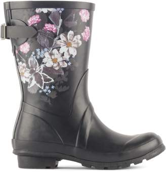 London Fog Hanley Floral Rubber Mid-Calf Boots