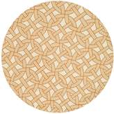 Loloi Rugs Palm Springs Hand-Hooked Indoor/Outdoor Round Geometric Rug