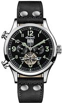 Ingersoll Men's Automatic Stainless Steel and Leather Casual Watch, Color:Black (Model: I02102)