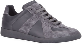 Maison Margiela Men's Replica Low-Top Leather Sneakers