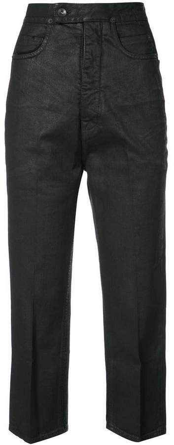 Rick Owens Bolan cut cropped jeans