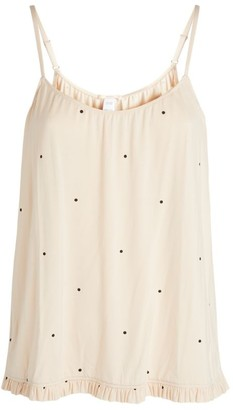 Eberjey Ruffle-Trim Pyjama Top
