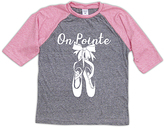 Urban Smalls Heather Gray & Pink 'On Pointe' Raglan Tee - Toddler & Girls