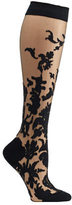 Ozone Women's Floral Damask Knee High Socks