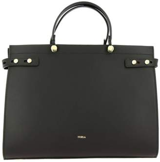 Furla Handbag Lady Leather Tote Bag With Logo
