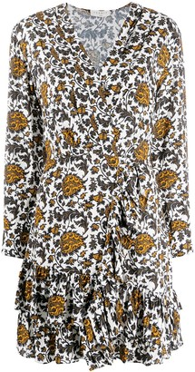 Sandro Floral-Print Shift Dress