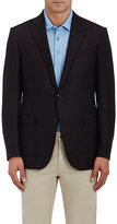 Ermenegildo Zegna Men's Plaid Wool Two-Button Sportcoat-DARK GREY