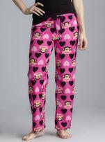 Paul Frank Pink Plush Pajama Pants