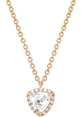 Ef Collection 14K Rose Gold Topaz Trillion Necklace - 0.05 ctw